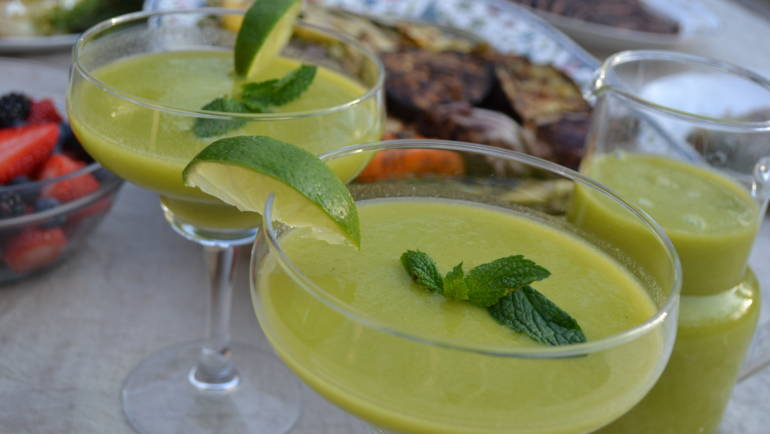 Mango Mint Margarita Mocktail